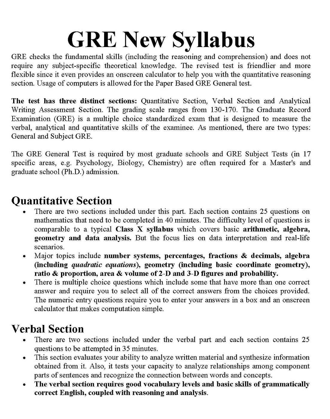 PDF Of GRE Syllabus - 2018 2019 Student Forum