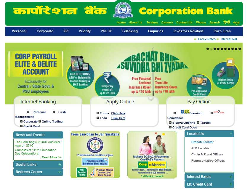 Corporation bank forex service charges