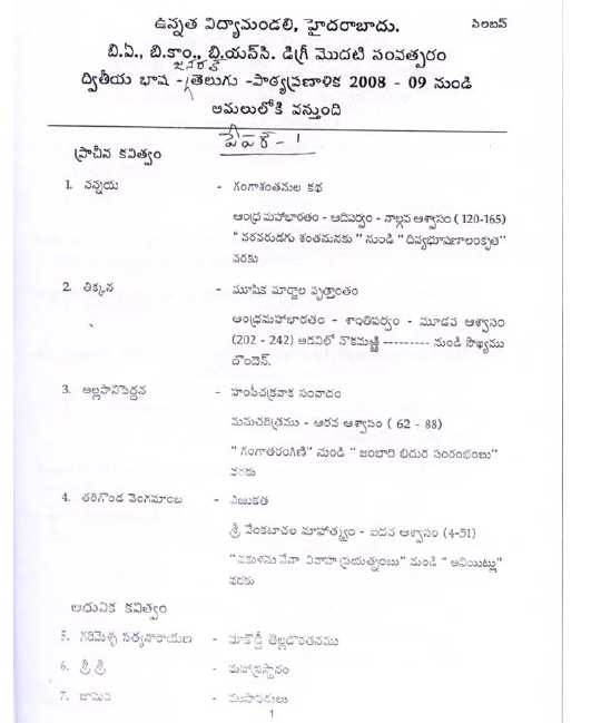 By Photo Congress || Andhra University Degree B com Model Papers