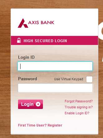 Axis bank forex login