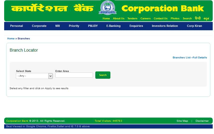 Corporation bank forex branch delhi