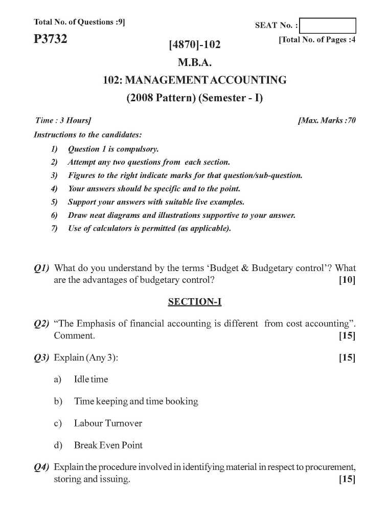 MBA Question Papers Of Pune University - 2018 2019 Student Forum