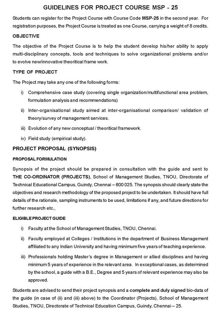 Tnou mba project guidelines 2018 2019 student forum guidelines for mba projects issued by tamil nadu open university yadclub Gallery