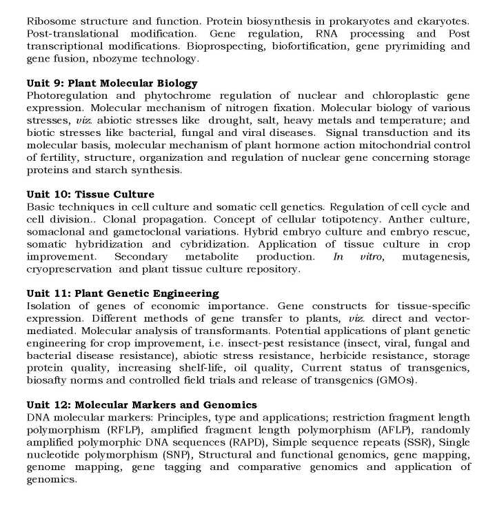 ARS Net Syllabus For Home Science - 2018 2019 Student Forum