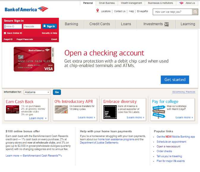 Bank of America Account Opening Form - 2018 2019 Student Forum