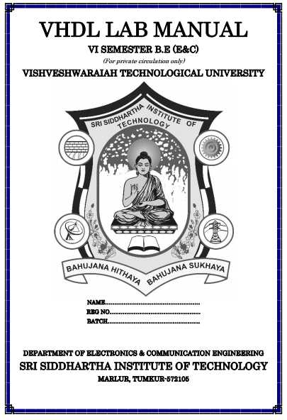 HDL Lab Manual VTU - 2018 2019 Student Forum