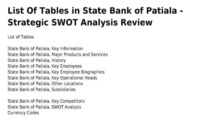 The 'State Bank' Case Analysis