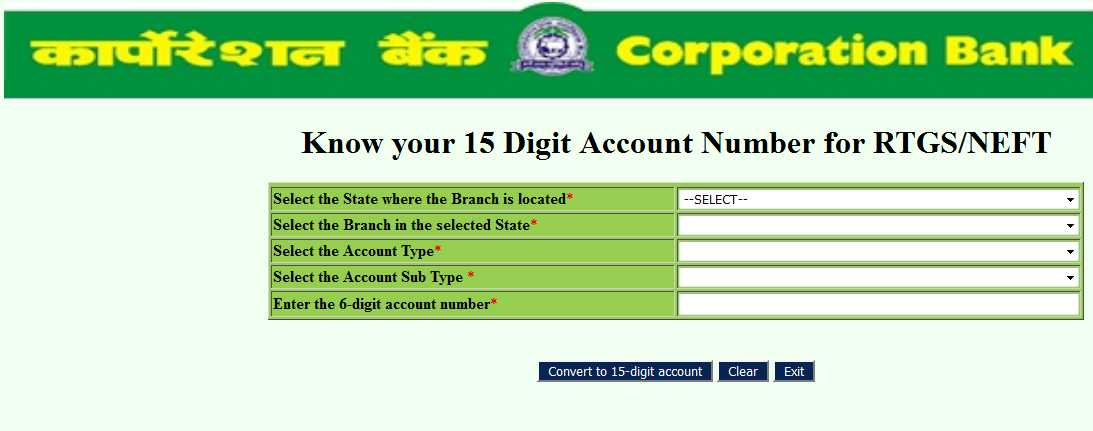 Example of Corporation Bank Account Number - 2018 2019