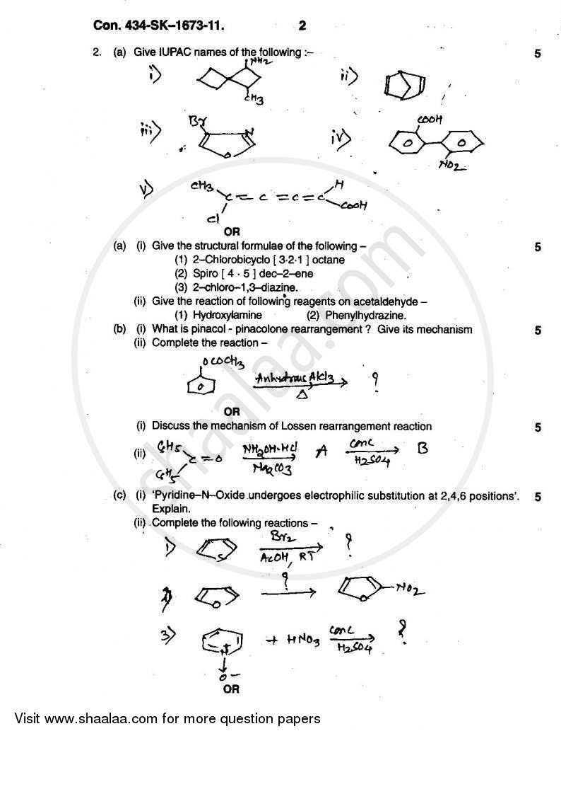 Mumbai University Old Question Paper For Tybsc Chemistry