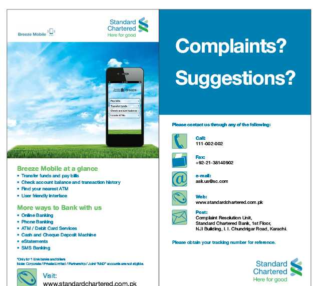 contact standard chartered