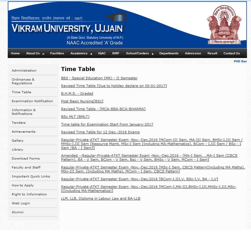 Vikram university ba 6 sem timetable 2018 2019 student forum for Bu time table 6th sem