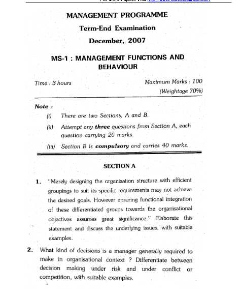 ms 3 ignou previous question papers