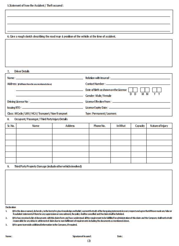 United India Insurance Motor Claim Form  ImpremediaNet