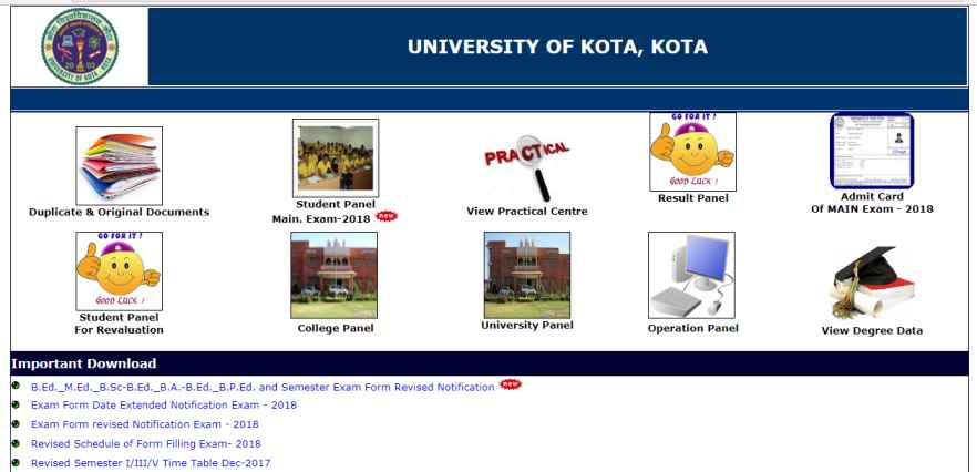 Kota University India Result - 2018 2019 Student Forum
