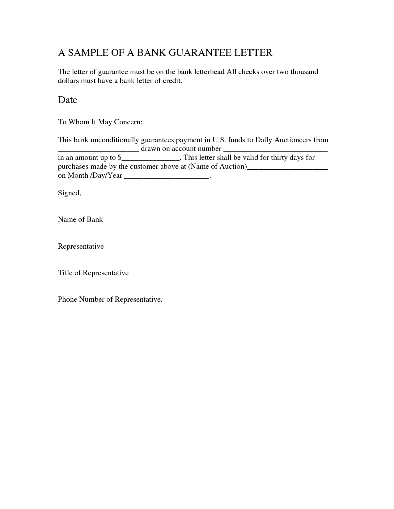 insurance letter of guarantee template  letter of guarantee insurance How To Have A Fantastic