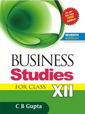Business Studies Class 12 Cbse Book