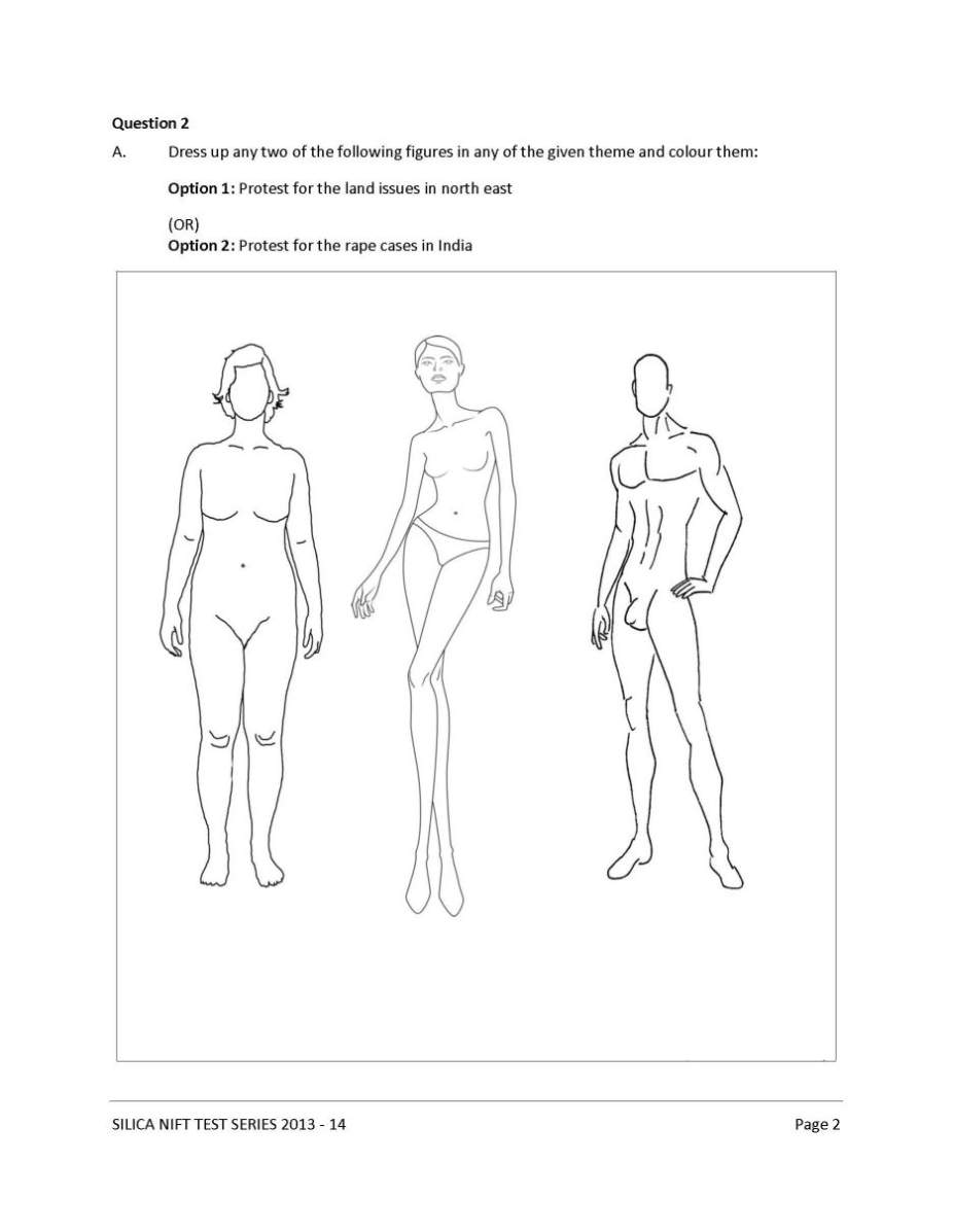 National Institute Of Fashion Technology B Designing Entrance Exam Sample Question Pa 2020 2021 Student Forum