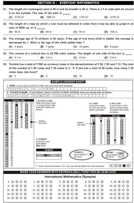 8th International Mathematics Olympiad (IMO) 2nd Level Sample Papers