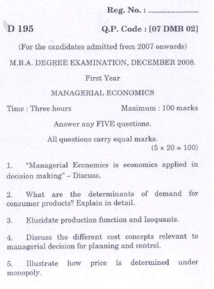 concept of managerial economics