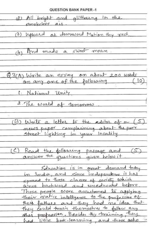 english essay of class 10