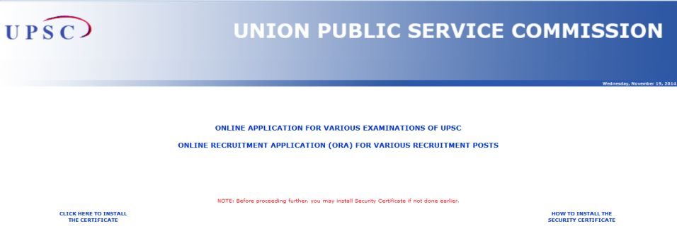 how to apply for upsc exam 2014 online