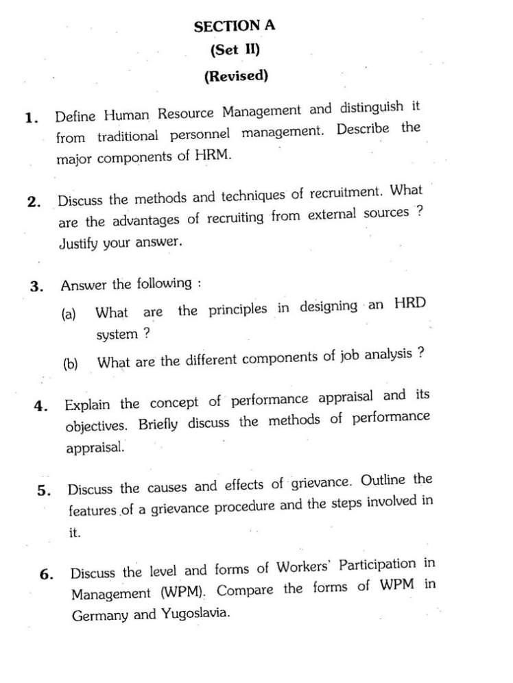personnel management and human resource management commerce essay Human resource management is seen by practitioners in the field as a more innovative view of workplace management than the traditional approach.