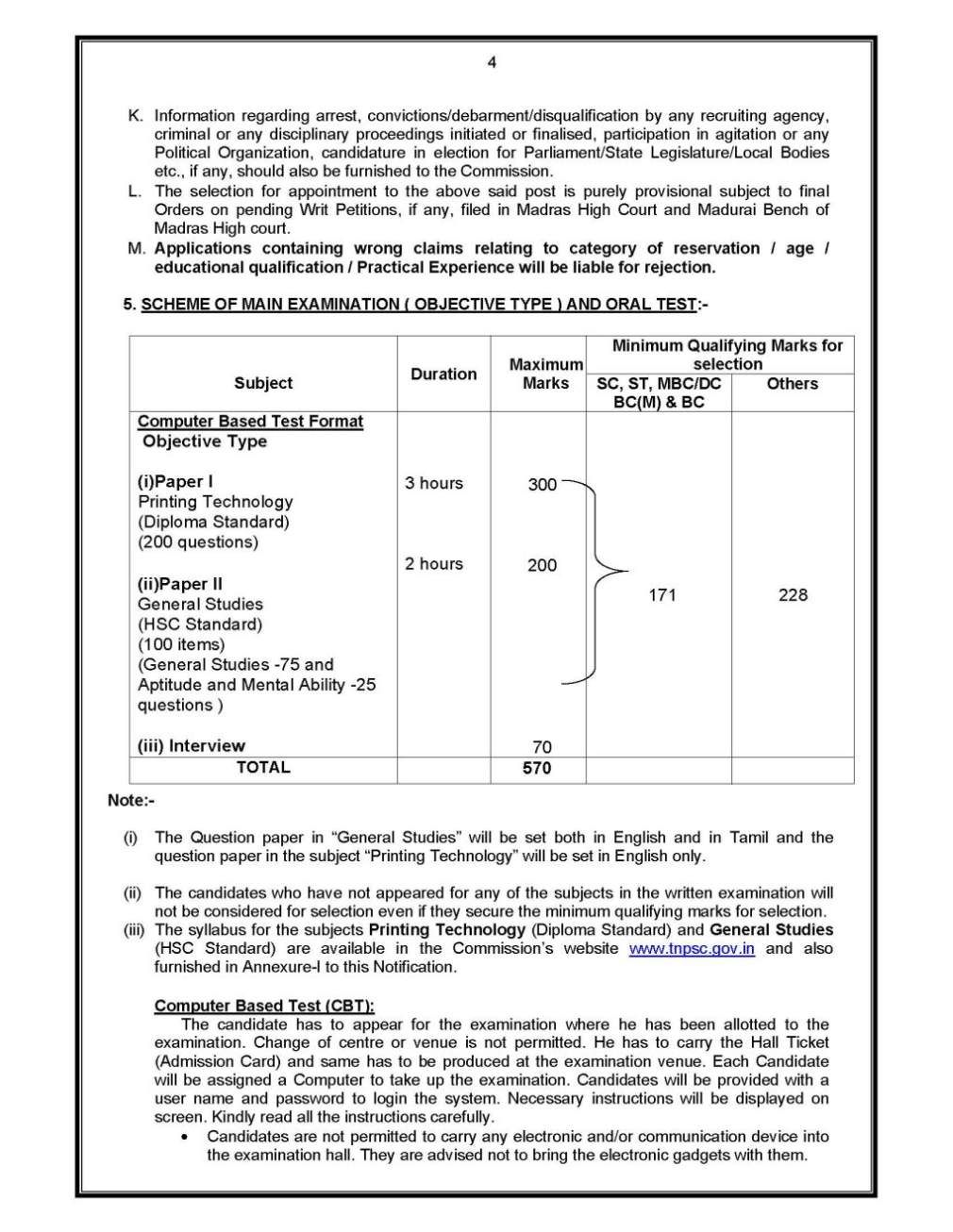 What is the qualification for TNPSC group I,2,3,4? - 2018
