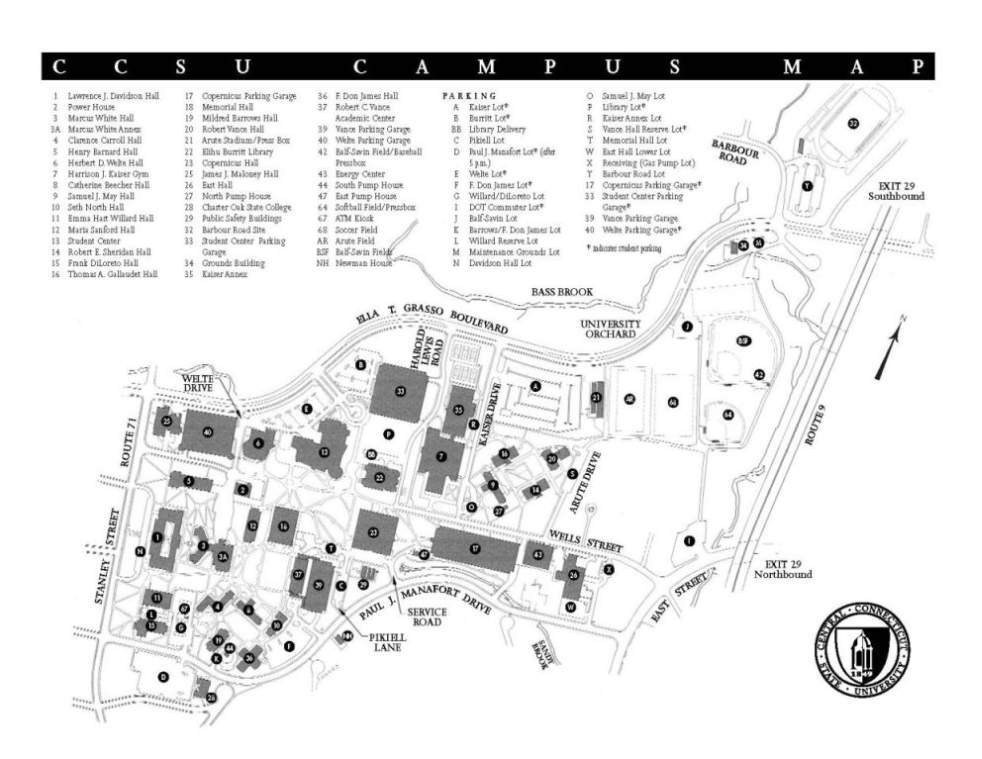 Ccsu Campus Map Ccsu Map | World Map 07
