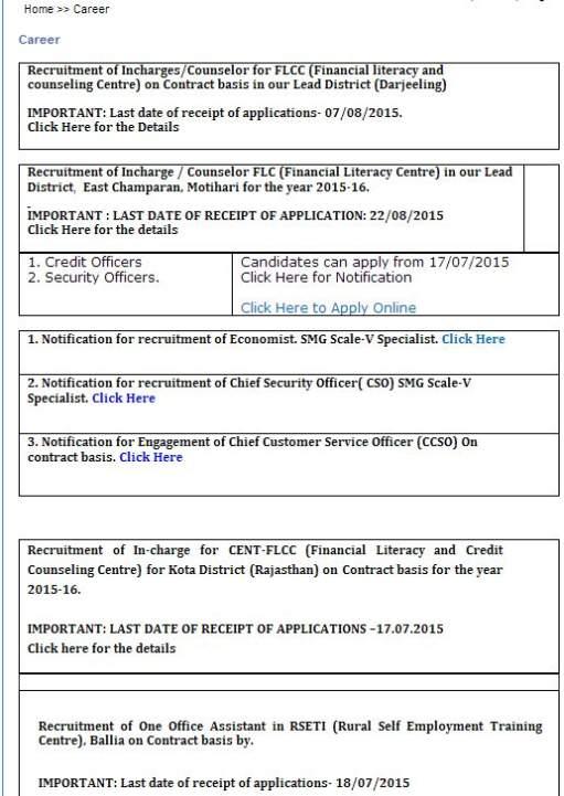central bank online form for clerk