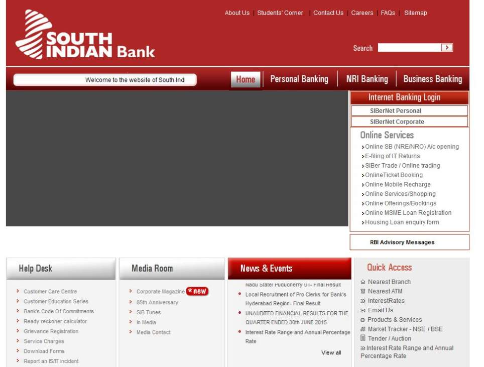 south indian bank online application form 2013
