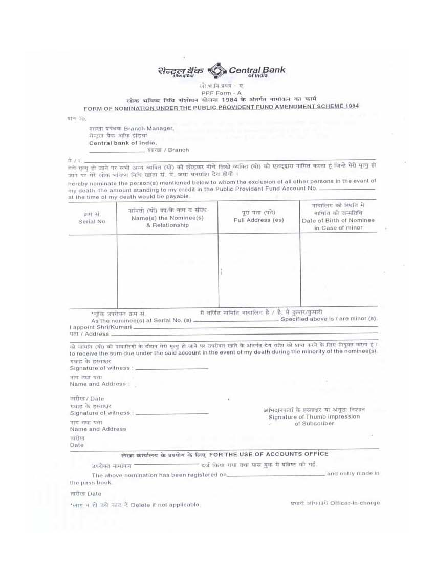 central bank of india demat closure form