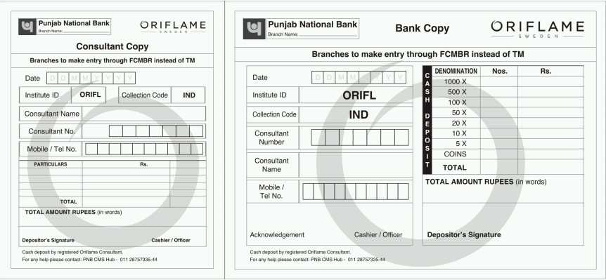 pnb deposit form pdf  Punjab National Bank Cash Deposit Slip PDF - 14 14 ...