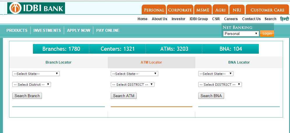 idbi bank new delhi address