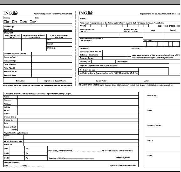 yes bank draft form download