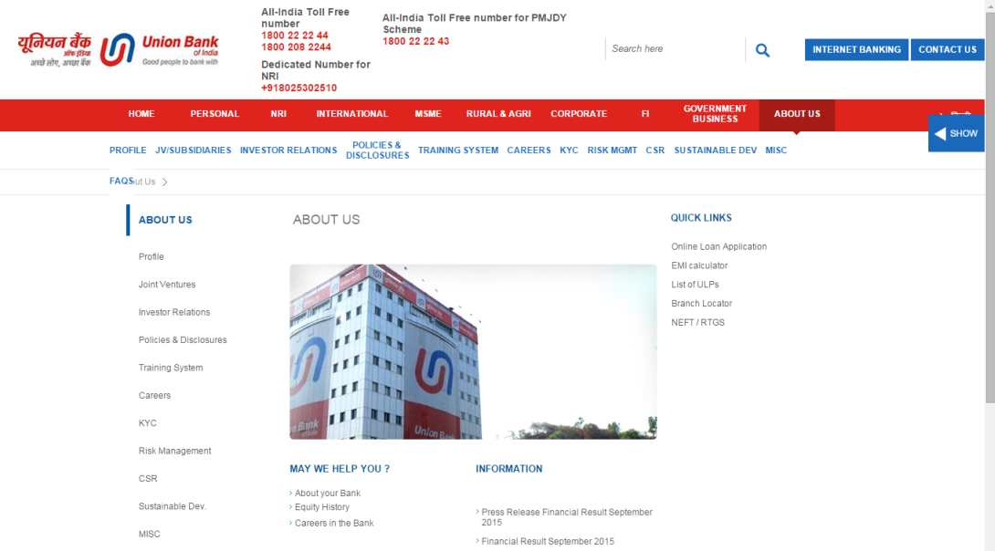 union bank of india pune branches timings