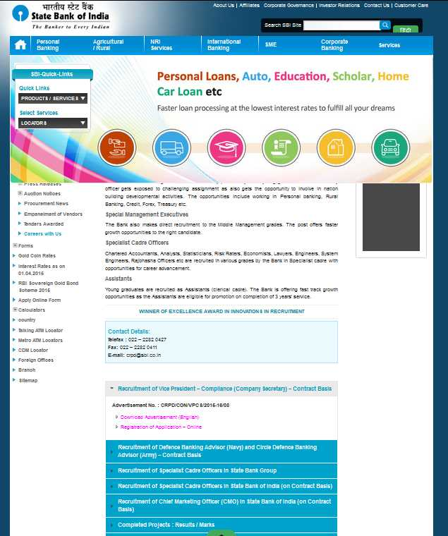 online registration of sbi clerk 2015