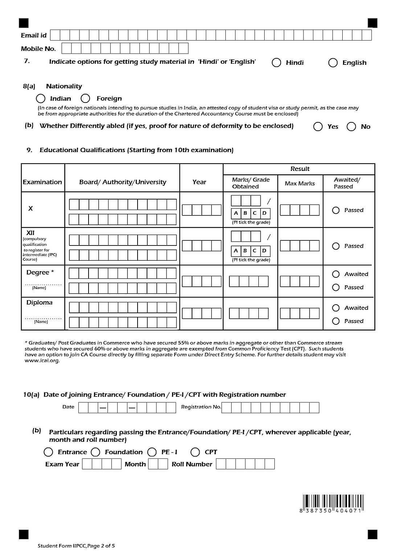 Ca Ipcc Revalidation Form Pdf