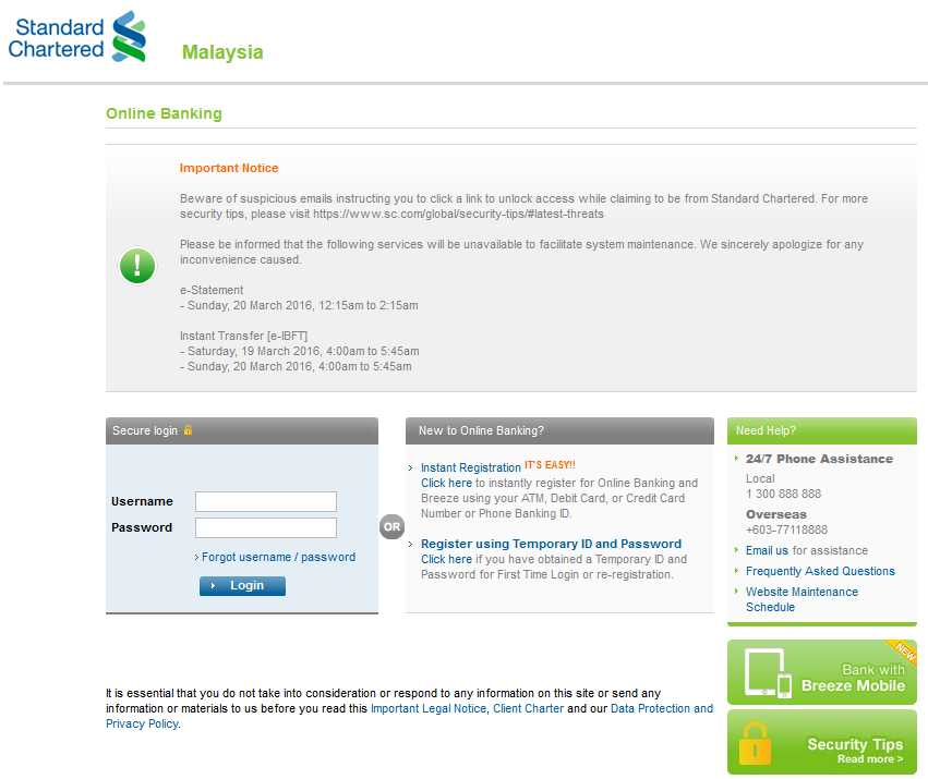 Standard Chartered Bank Malaysia Online