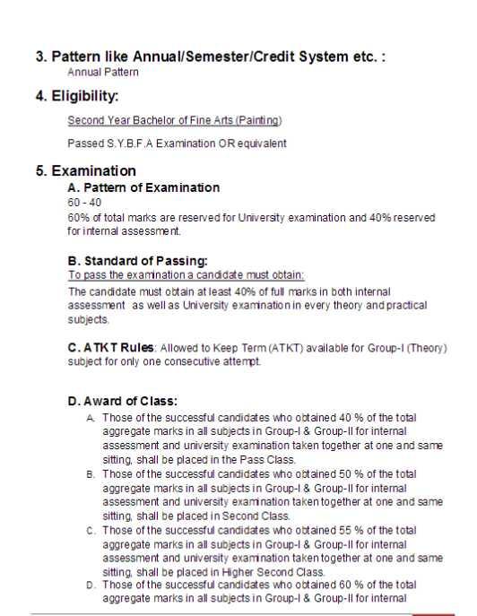 BFA Syllabus, Subjects, Course Curriculum, Painting ...
