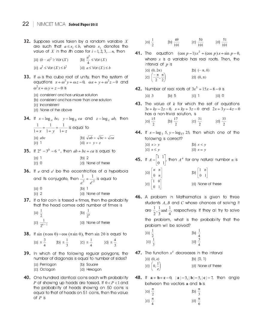 Nimcet Question Paper Pdf
