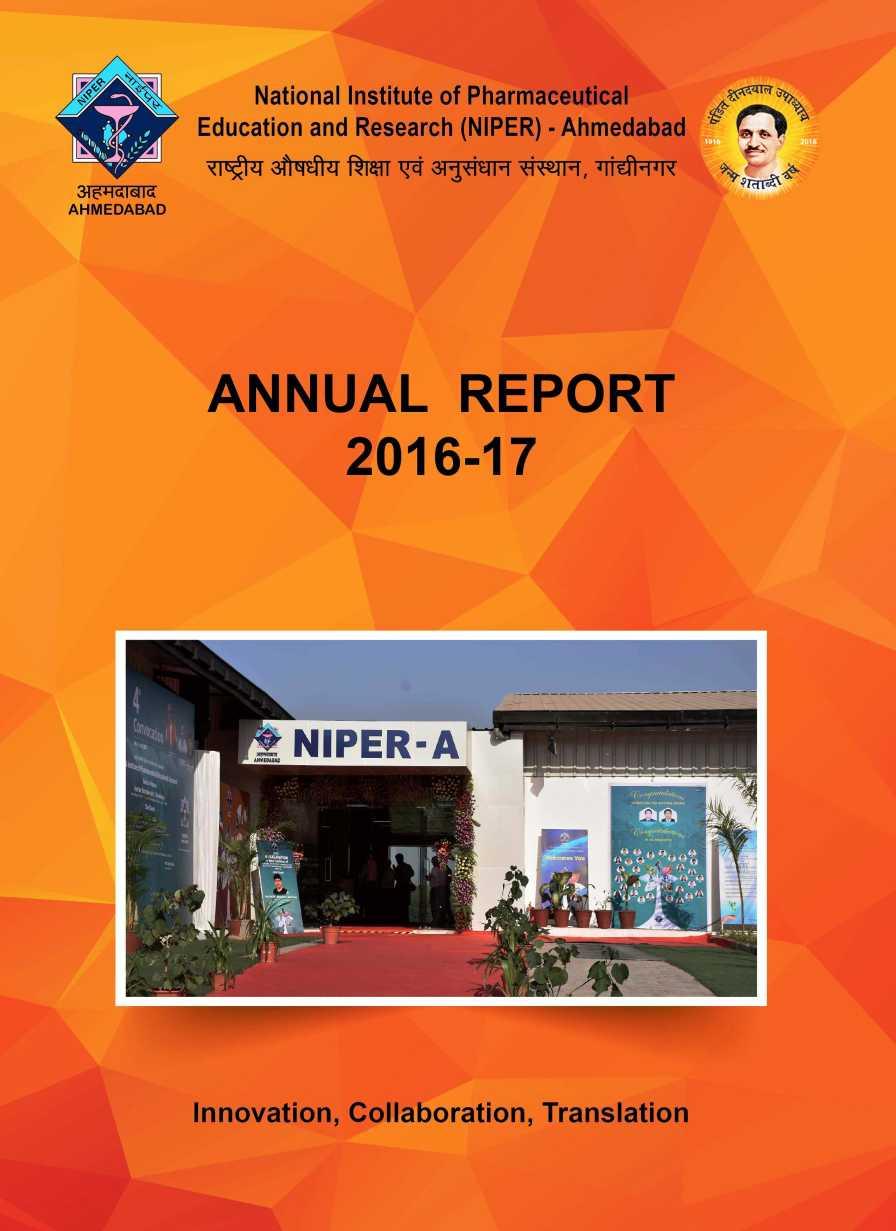 NIPER Annual Report - 2020 2021 Student Forum