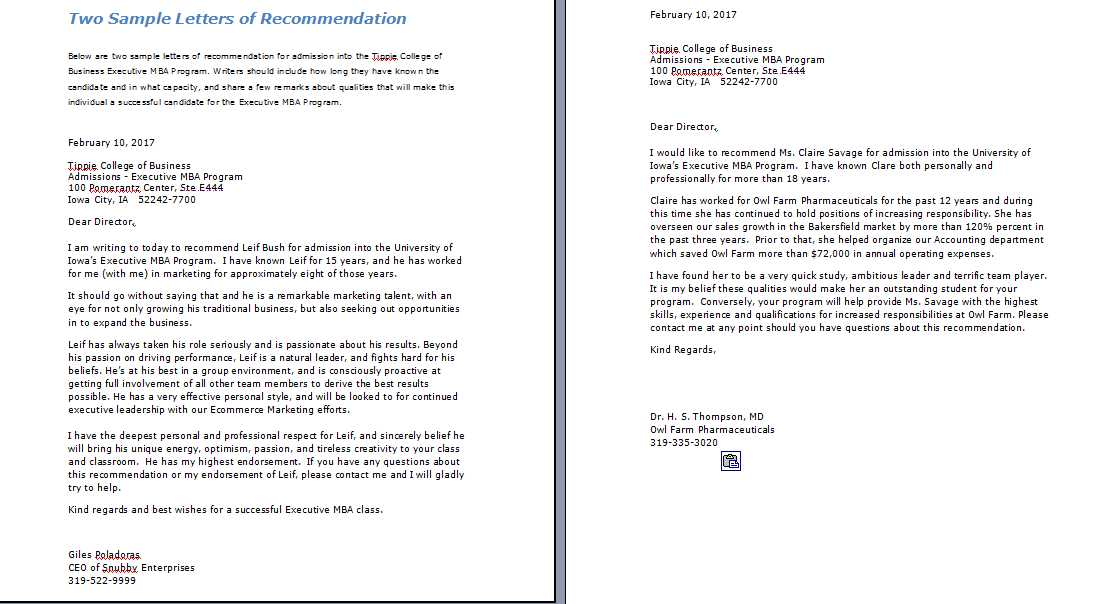 Mba Letter Of Recommendation Template from management.ind.in