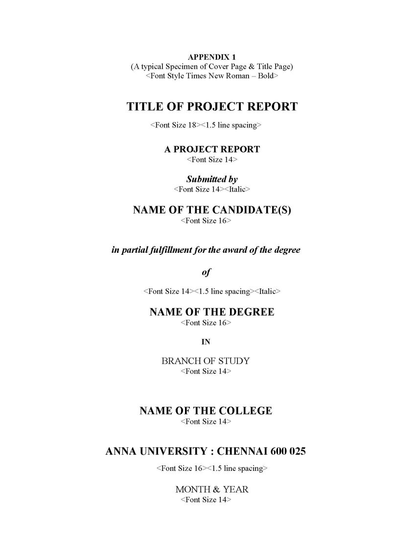 Anna University Sample Project Reports - 2018 2019 Student Forum
