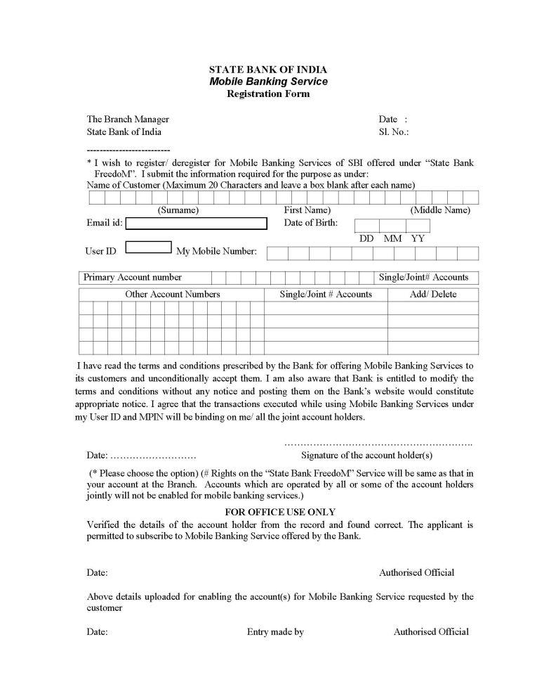 www sbi bank application forms